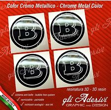4 Adesivi Resinati Sticker 3D BRABUS Smart 55 mm