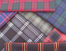 Tartan Fabric Polyester Viscose