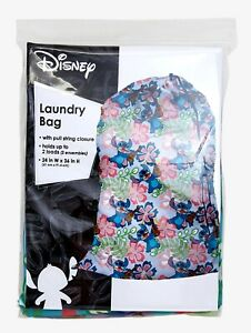Disney Lilo & Stitch floral laundry bag official 24x36 (holds 2 loads clothing)