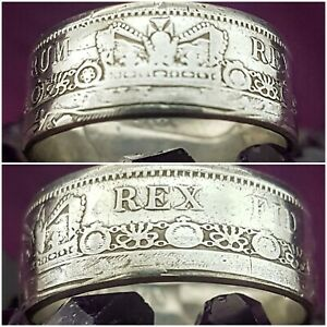 George lll Silver Halfcrown Coin Ring Size Z (1816)