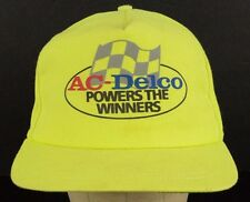 AC Delco Powers the Winners Batteries Neon Yellow Baseball Hat Cap Adjustable