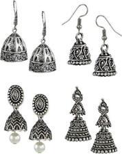 Ethnic Jhumki Designer Oxidised Jhumki New Jewelry Earrings Pack Of Four