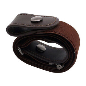 Elastic Women's Buckle-Free Belts Invisible Belt for Jeans Hassle Band No Bulge