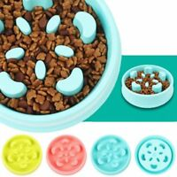 Pet Dog Cat Slow Eating Food Bowl Anti Gulping Feeder Puzzle Healthy Bowl Cute