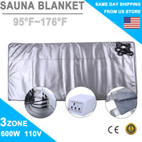 Far-Infrared 3 Zones Sauna Blanket Slimming SPA Detox Weight Loss Machine