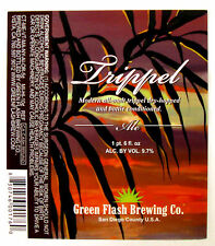 Green Flash Brewing TRIPPEL ALE beer label Vista  CA 12 oz