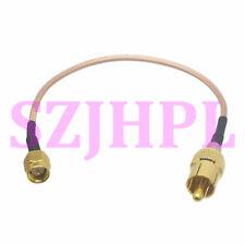 "RCA plug to SMA M cable TV AV radio audio video camera CCTV RF coaxial RG316 6"""