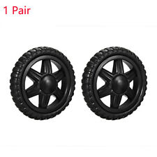 2PCS Shopping Cart Wheels Travelling Trolley Caster Replacement 5.3 Inch Dia