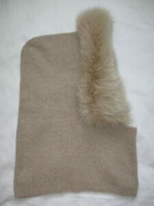 Max Mara Studio Alpaca/Fur Hood