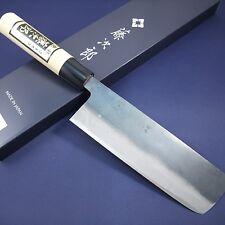 Japanese Nakiri Knife TOJIRO Black Finished White Steel Shirogami Made in Japan