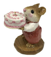Wee Forest Folk Retired Happy Birthday Mouse M-83 1982 Red Pants With Box