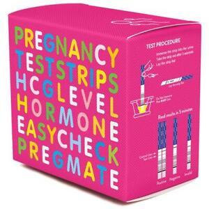 Pregmate HCG Human Chorionic Gonadotropin Pregnancy Test Strips 10/25/50 Count