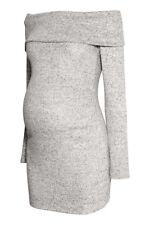 NEU H&M Mama Umstandspullover Pullover grau Off-Shoulder schulterfrei GR L 40 42