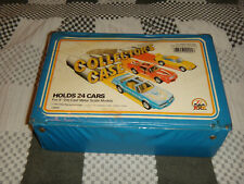 """1983 INTEX RECREATION CORP. COLLECTOR'S CASE HOLDS 24 (3"""" CARS) NO HANDLE"""