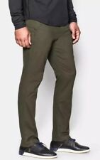 $80 Under Armour Performance Men's Sz 34/32 Taper Leg Pants Chino Green 1261609