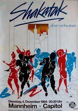 SHAKATAK - 1984 - Konzertplakat - Down on the Street - Tourposter - Mannheim