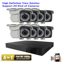 8CH All-in-1 DVR 1080P 2.6MP Varifocal 66IR Security Camera System 2TB HDD 8hy6