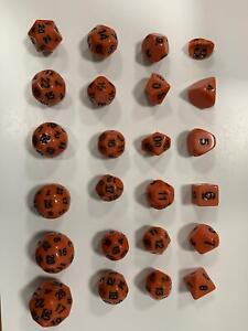 Impact Elfball Dice Unusual - Orange w/Black (24) New