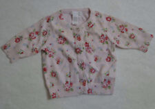 H & M Floral Pink cardigan Sweater Girls 4/6 Months  Easter