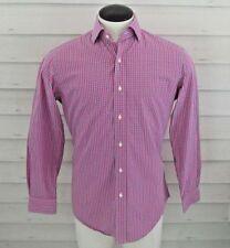 EUC Ralph Lauren Polo Long Sleeve Pink Plaid Button Down Shirt Size 15.5 32/33