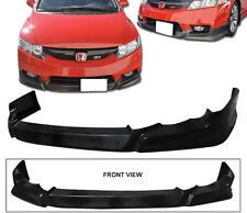Fit For 09 - 11 Honda Civic Sedan 4DR Front Bumper Lip Spoilers Poly Urethane PU