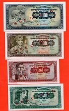 YUGOSLAVIA SET  ( 100 500 1000 5000 ) DINARA 1963 .G.  UNC  - SPECIMEN