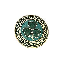 Sea Gems - Celtic Shamrock and Knots Silver Plated Enamel Brooch - Rrp £24.95
