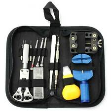 30Pcs Watch Repair Tools Kit Case Opener Pins Link Remover Spring Bar with Bag