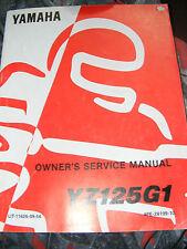 Propietario de Yamaha YZ125G1, S Manual De Servicio 1994 (edición ist)