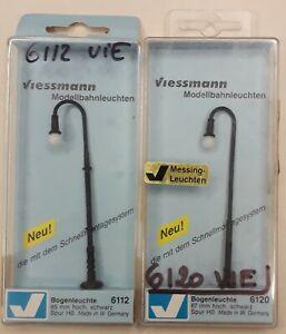 VIESSMANN Réf: 6112 et 6120 - LAMPADAIRES POUR ECLAIRAGE DE RUE HO