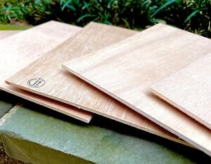 Spanish Cedar Plywood sheets, 8 x 7 inches, 5 Pieces