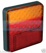 Led autolamps 100bare Cuadrado 12v Trasero Slim combinación Remolque Lámpara de cola de luz