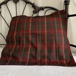 Ralph Lauren Grosvenor Square Wool Plaid Standard Pillow Case Sham (1)