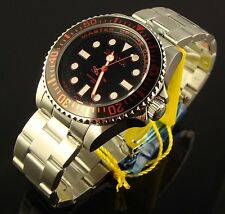 INVICTA MENS 43MM SWISS MASTER OF OCEANS SUBMARINER STYLE PRO D. BLACK &RED DIAL