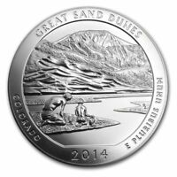 2014 5 oz Silver ATB Great Sand Dunes National Park in Capsule