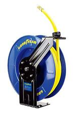 Goodyear Steel Retractable Air Compressor/Water Hose Reel with 1/2 in. x 65 ft.