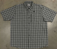 Under Armour Loose Fit Button Up Vented Heat Gear Shirt 2XL Mens Camp Hike Top