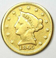 1845-D Liberty Gold Quarter Eagle $2.50 - Fine Details (Damage) - Dahlonega Coin