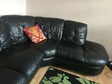 Looking for immediate sale Black Leather Corner Sofa