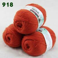 Sale Lot of 3 Balls x50gr LACE Soft Acrylic Wool Cashmere hand knitting Yarn 918