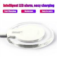 Phone Wireless Charger Adapter Fast Charging Pad Base for iPhone XR/XS/ Samsung