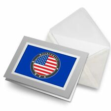 Greetings Card (Grey) - Washington USA Flag America  #9233