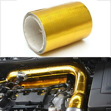 100* 5cm Roll Adhesive Reflective Gold High Temperature Heat Shield Wrap Tape 1