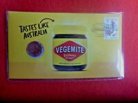 2019 VEGEMITE LTD EDITION POST NUMISMATIC COVER SPECIAL COIN & PMK