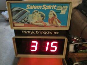 """Vintage Large 20"""" SALEM Cigarettes Store/advertising Clock Light"""