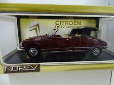 1:18 Norev  #181516 Citroen DS19 Cabriolet rot  -Rarität