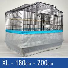 Catcher semilla Guardia jaula ordenado lío protección Pila Pájaro Loro Azul XL 200 Cm