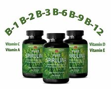 SPIRULINA Tablets 100% Plant-Based Dietary Supplement (3 Bottles)