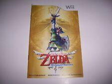 The Legend of Zelda Skyward Sword Instruction Book Booklet Manual Nintendo Wii