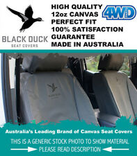 Black Duck Canvas Seat Covers Landcruiser 100 Series GXL RV Front Buckets 98-'05